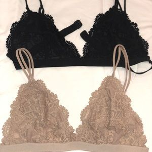 2 Lace Bralettes